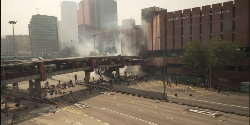 Campus clashes as Hong Kong protest intensifies
