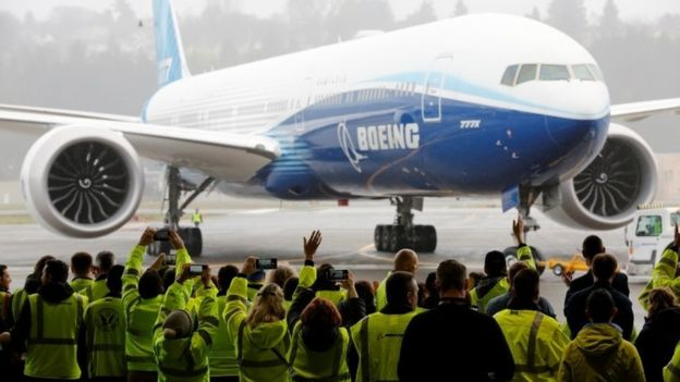 World's largest twin-engine jet completes first flight