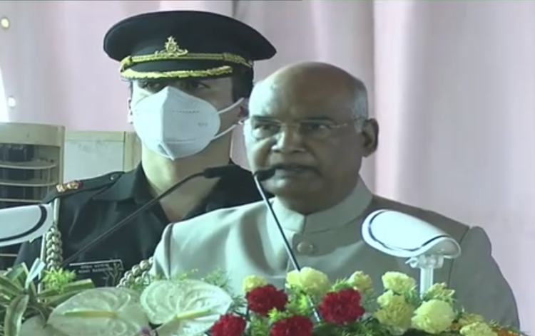 President Kovind says, development of teh country can never be complete without development of tribal, Dalit communities