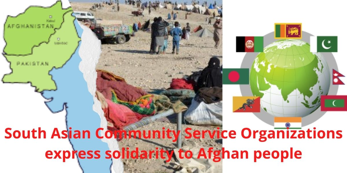 South Asian Community Service Organisations express solidarity to Afghan people