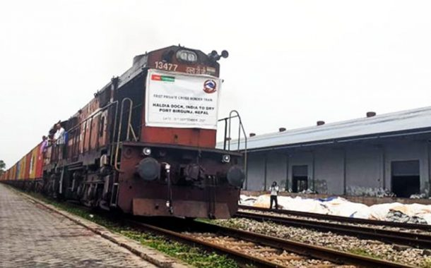 After 17 Years, First private sector cargo train from India arrives in Birgunj