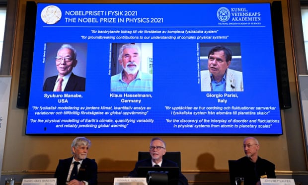 Trio of scientists win Nobel prize for physics for climate work