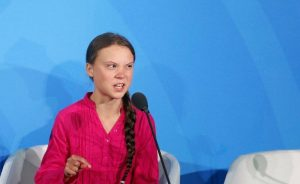 Environmental activist Greta Thunberg, of Sweden, addresses the Climate Action Summit in the United Nations General Assembly, at UN headquarters, Monday, September 23, 2019.