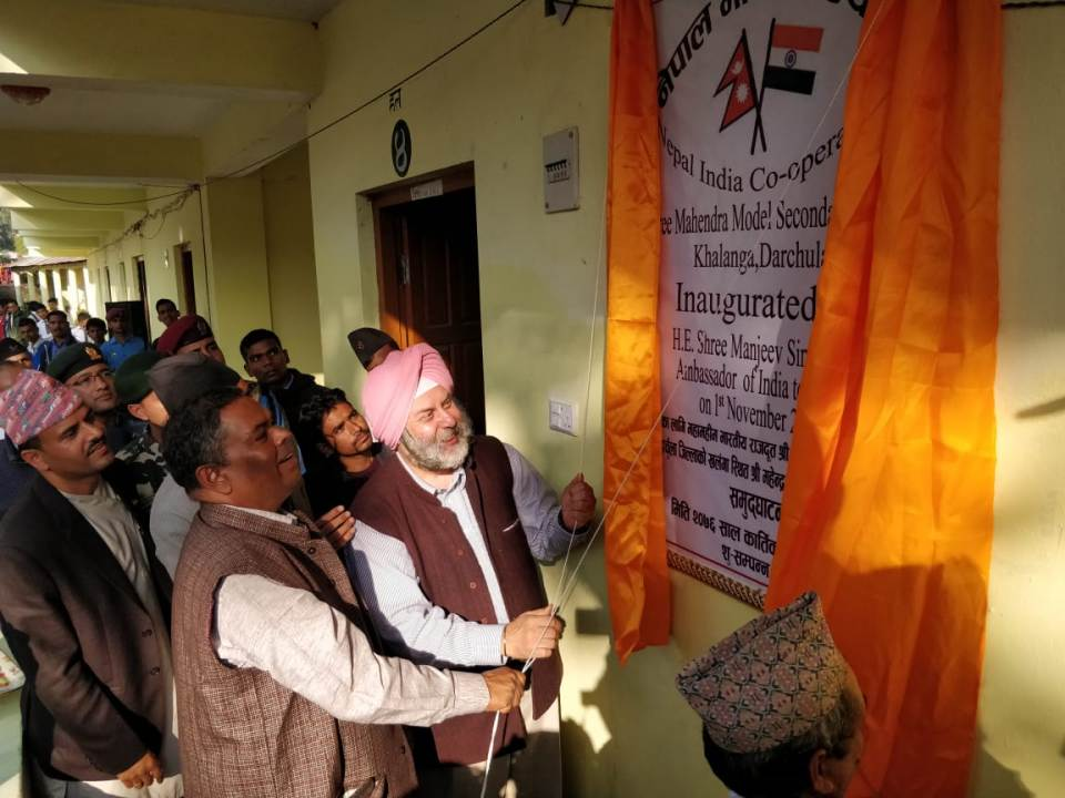 Ambassador Puri inaugurates school building built with Indian assistance in Darchula
