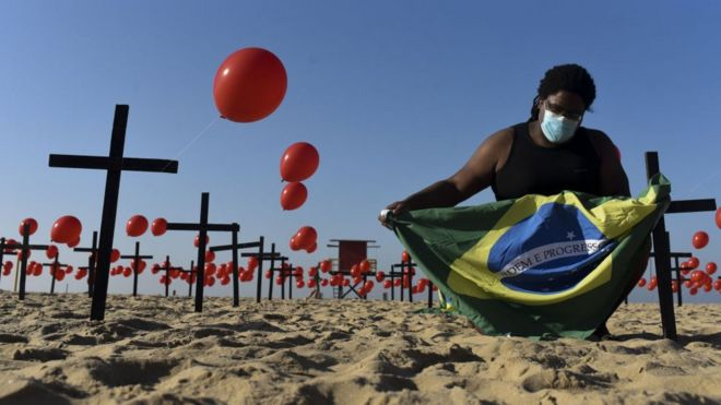 Brazil passes 100,000 deaths as outbreak shows no sign of easing